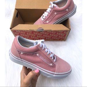 ⚡️Custom Bling Old Skool Vans (Pink)⚡️
